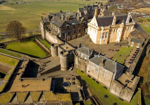 Aerial image of Stirling Castle in Central Scotland.