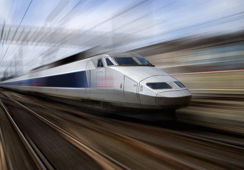 TGV train at speed (blurred motion)